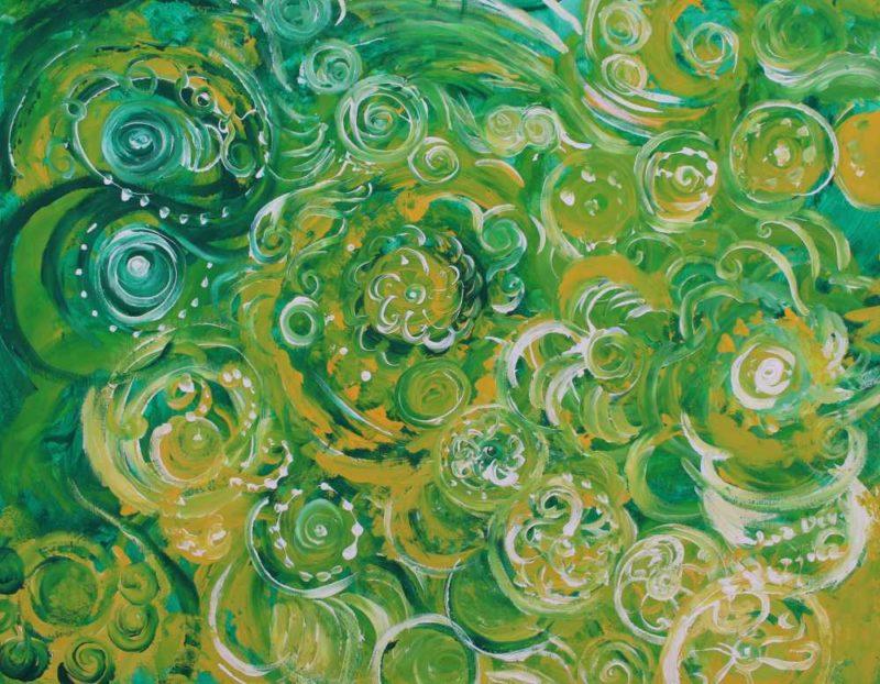 Océano sideral verde de sanación cósmica