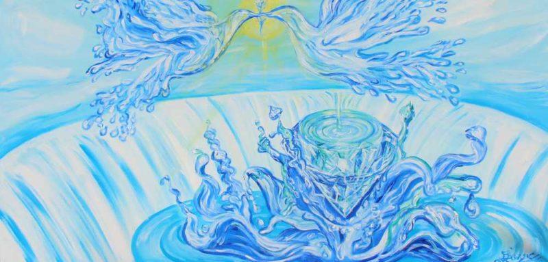 El diamante de las palomas del agua