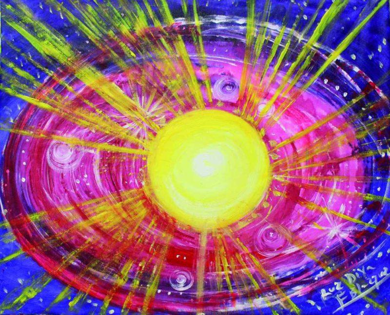 El sol resplandeciente del universo