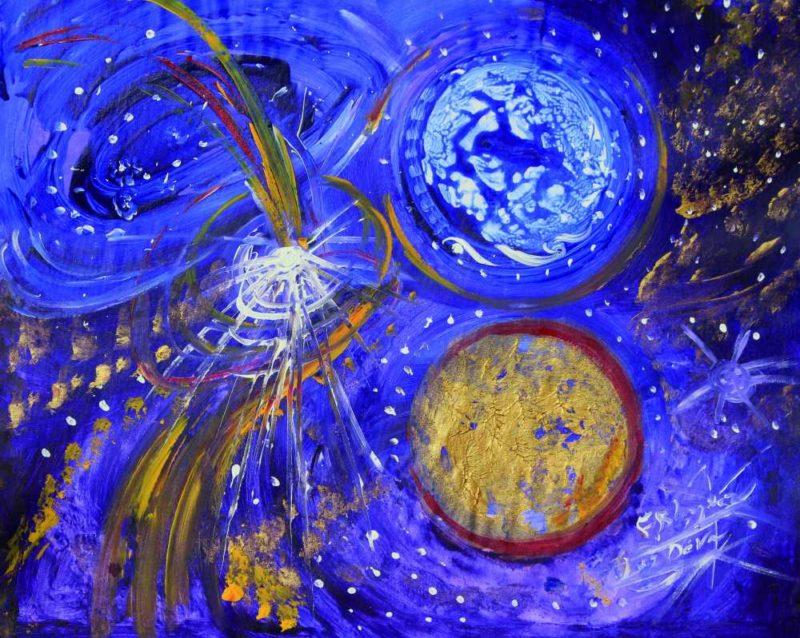 El mundo violeta restaurando los planetas