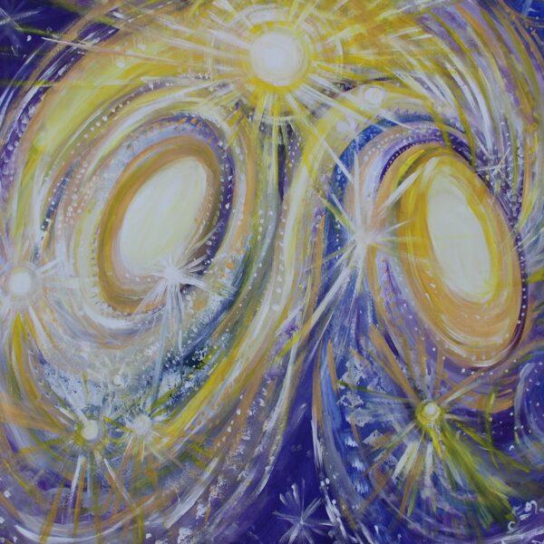 El sol del ocho infinito del universo