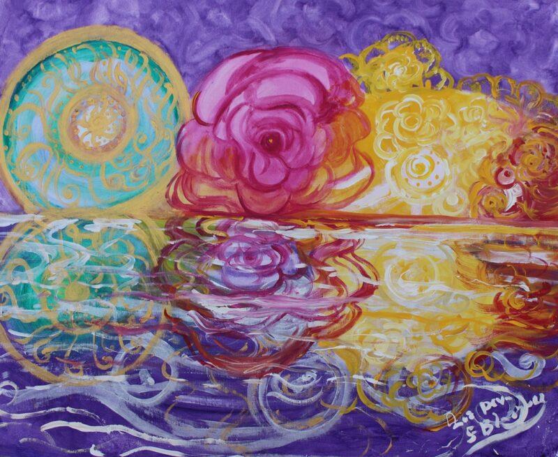 Flores del universo y la trasparencia de la belleza