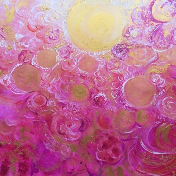 Sol oro y vida en rosa